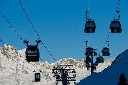 cable cars in Ischgl